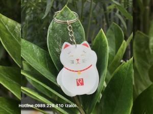 Móc Khóa Nhựa Dẻo Con Mèo